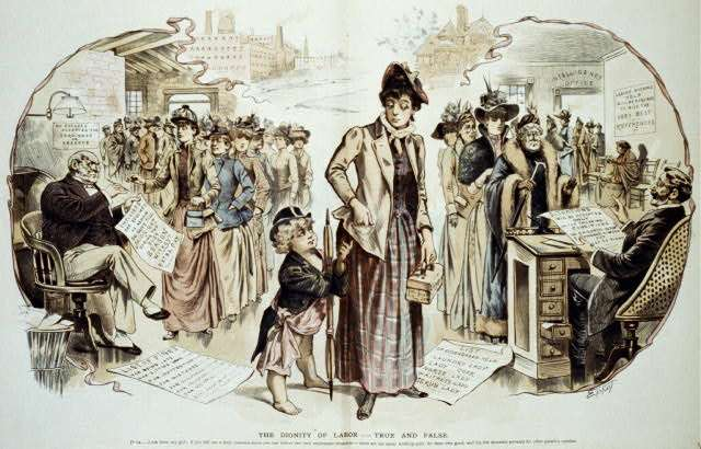 The Dignity of Labor Published 1891. Illus. in: Puck, Feb. 25, pp. 8-9. Retreived from loc.gov