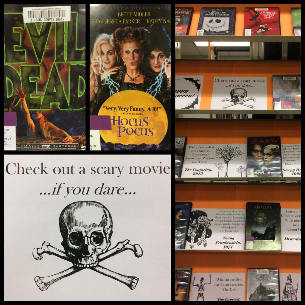 halloween movie display