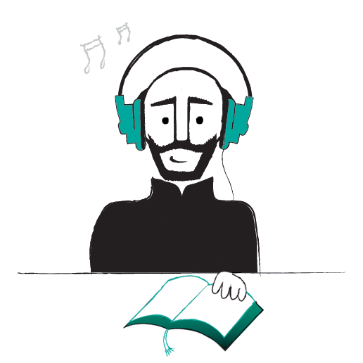 St. Ignatius enjoying what the library has to offer! (created with: http://findyourinneriggy.ignatianspirituality.com/do-it-yourself-iggy/)