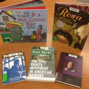 Check out some of the great books we have about Rosa Parks!