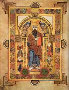 By Abbey of Kells - Scanned from Treasures of Irish Art, 1500 B.C. to 1500 a.D. : From the Collections of the National Museum of Ireland, Royal Irish Academy, & Trinity College, Dublin, Metropolitan Museum of Art & Alfred A. Knopf, New York, 1977, ISBN 0394428072, Public Domain, https://commons.wikimedia.org/w/index.php?curid=44527
